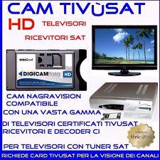 DECODER CAM TIVUSAT HD ORIGINALE CAM HD TV SAT RICEVITORE ALTA RISOLUZIONE