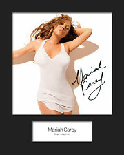 MARIAH CAREY #3 10x8 SIGNED Mounted Photo Print - FREE DELIVERY