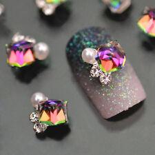 Lot 10x 3D Fashion Nail Art Decoration Multicolor Alloy Glitter Rhinestone