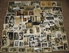 LOT OF 91 VINTAGE & ANTIQUE PHOTOS / SNAPSHOTS MISC. PHOTOGRAPHS 1890's-1950's