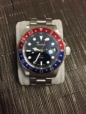 Squale Pepsi GMT Diver Watch Rare (Red And Blue)