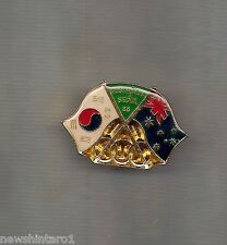 #D204.  AUSTRALIA  FLAG BADGE MADE FOR 1988 OLYMPIC GAMES