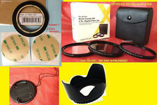 RING ADAPTER +FILTER KIT+LENS HOOD+CAP 58mm TO CAMERA FUJI S9800 S9900W SL1000