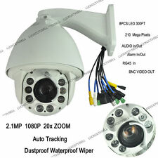 2.1MP Auto Tracking 20x Zoom 1080P PTZ IP Speed Dome Camera Alarm/Audio/SD CARD
