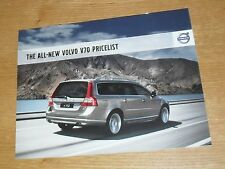 Volvo V70 Price & Specification Brochure 2007 SE Lux Sport 2.0 2.5T T6 2.4D D5