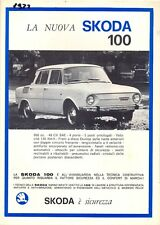 SKODA 100L 110LS 110R Coupe mercado italiano folleto de ventas 1972