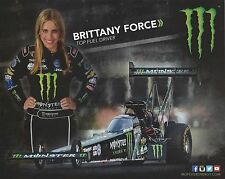 Brittany Force 2015 MONSTER NHRA Drag Racing NITRO Top Fuel Postcard-HANDOUT