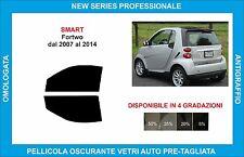 pellicole oscuranti vetri  smart fortwo dal 2007 al 2014 kit anteriore