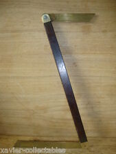 """Old J RABONE & SON 12"""" Double End BOATBUILDER/SHIPWRIGHT BRASS ROSEWOOD BEVEL 7w"""