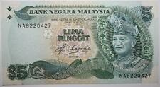 (PL) RM 5 NA 8220427 AUNC, FIRST PREFIX AZIZ TAHA 5TH SERIES NOTE