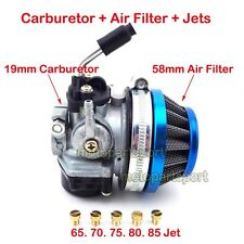Racing Carburetor Jets Air Filter 50cc 60cc 80cc 2 stroke Motorized Bicycle Bike
