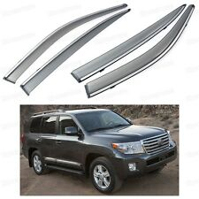 Front & Rear Car Window Visor Vent Shade for Toyota Land Cruiser 200 2008-2016