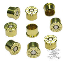 9 BRASS 44 MAG BULLET BOLT CAPS for HARLEY ENGINE COVERS  ( 9 BRASS)    B/U