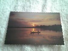 Vintage postcard, REFLECTIONS OF A GLORIOUS SUNSET, CANADA