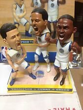 Stephen Curry Thompson Green Golden State Warriors Triple Bobblehead NEW 1/144