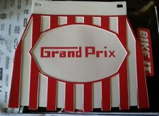 Lambretta GP Grand Prix Cupinni Red Stripped Mudflap .. New!!