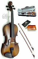 Solid Wood Violin 3/4 Size Hi-Quality w Leto Rosin, Light Case+Two Brazil Bows