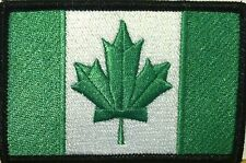 CANADA Flag Iron-On Morale Patch Green Kelly & White Version, Black Border #12