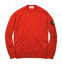 *NWT* STONE ISLAND x SUPREME FW14 PULLOVER CREWNECK SWEATSHIRT (RED, SMALL)