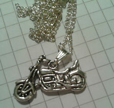 "TIBETAN SILVER PENDANT ""OLDER STYLE 900 CC MOTORBIKE"" ON 18"" or20""NECKLACE CHAIN"