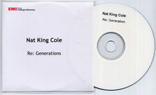 NAT KING COLE Re:Generations UK promo test CD will.i.am Amp Fiddler Roots