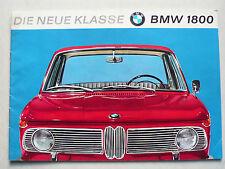 Prospekt BMW 1800 (neue Klasse), 9.1963, 20 Seiten