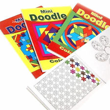 24 x Childrens Mini Doodle Colouring Books 44 Designs Per Book Party Favour 3095