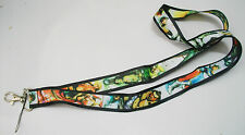 Street Fighter Characters Black Color Fabric Lanyard Keychain