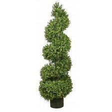 "56"" Artificial Outdoor Boxwood Wide Spiral UV Topiary Tree 4 5 6 Porch Patio Pot"