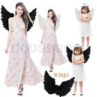 UK Large Adult Kid Feather Fairy Angel Wings Hen Night Party Fancy Dress Costume