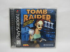 Sony Playstation 1 PS1 Tomb Raider III Complete Game Great Gift! VGC,1