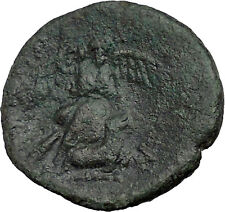 SYRACUSE in SICILYafter 212BC Nike Sacrifices Bull Athena Cult Greek Coin i37408
