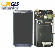 GLS DISPLAY +TOUCH SCREEN per SAMSUNG GALAXY NOTE 2 GT N7100 AMOLED Vetro GREY
