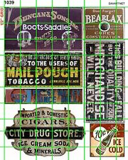1039 DAVE'S DECALS HO DRUG STORE MAIL POUCH COLA BOOTS BUILDING GHOST SIGNS AD