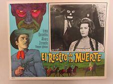 """""""El Rostro de la Muerte / Face of Death"""" Lobby Card 11x14"""" Mexican Movie Poster"""