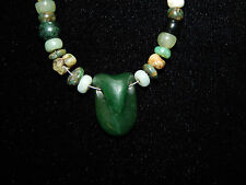 Pre-Columbian Mayan Jade Warrior Beads, Gemstone High Quaility, Authentic