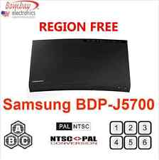 SAMSUNG BD-J5700 Curved REGION FREE BLU-RAY DVD PLAYER - WiFi - A, B, C & 0-9