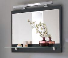 Badmöbel Laonda Badezimmermöbel Spiegel mit Glasregal & Beleuchtung Badezimmerbe