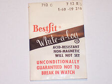 Bestfit 712C Watch Mainspring NOS FREE SHIPPING
