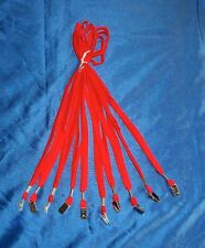 Lanyard ID Badge Holder Neck Strapwith Snap Clip, Lot of 10