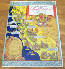 1962 Folder///  WINE MAP & TASTING FESTIVAL OF CALIFORNIA CHAMPAGNES