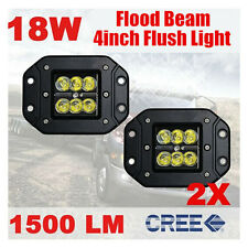 2X 18W 4 inch Flush Mount CREE LED Work Light Pods Offroad Truck Jeep SUV Boat 4