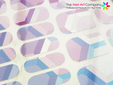 Nail Wraps 'Fingers & Toes' Honeycomb Abstract Design (22 Wraps Per Pack)