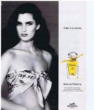 """PUBLICITE ADVERTISING 104 1991 HERMES """"Calèche""""  Soie de Parfum"""