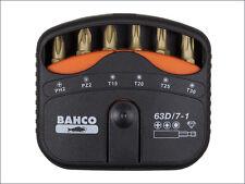 Bahco Screwdriver  63D/7-1 Diamond Bit Set PH / PZ / Torx 7 Piece