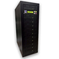 M-Tech 1-10 PRO CD/DVD  Stand Alone Tower Duplicator Internal 500GB HDD eSATA