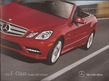 2012 12  Mercedes Benz  E  Class Coupe & Cabriolet Original  brochure