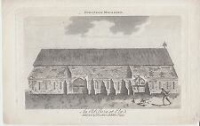 1797 engraving of an old Barn at Ely