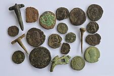 Group Of Roman Coins & Roman Brooches Found Metal Detecting In Suffolk