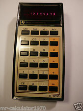 RARE VINTAGE RED LED TEXAS INSTRUMENTS TI-1250 1970'S